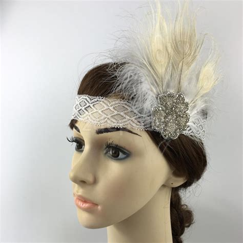 how to make a grate gatsby headpieces 2016 fashion new elegant feather headband 1920s great