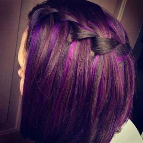how to make a grey streck in my hair 25 best ideas about purple hair streaks on pinterest