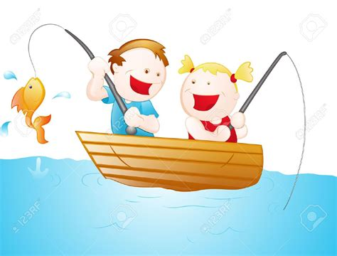 cartoon girl on boat fishing clip art for kids clipart panda free clipart