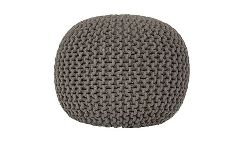knit pouffe george home charcoal knitted pouffe home garden