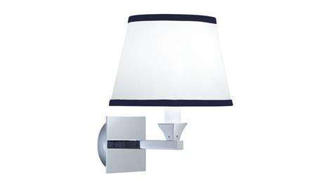 astoria wall light with the oxford oval blue trim shade