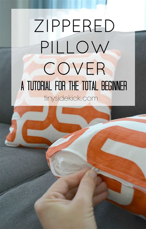 Zippered Pillow Covers - how to make a zippered pillow cover tutorial for beginners