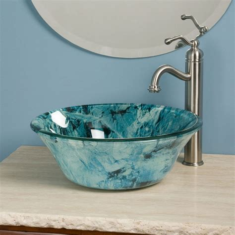 bathroom sinks glass bowls bathroom bathroom vessel sinks home depot bowl sink
