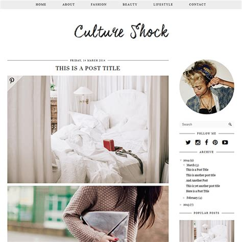 layout fashion blog culture shock a designer blogger template by pipdig