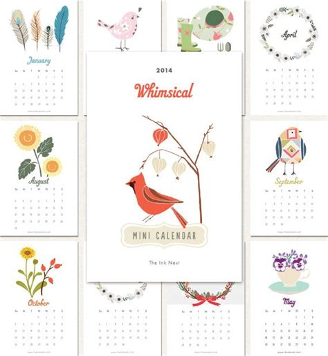 printable calendar etsy 2014 calendars by etsy artists centsational girl