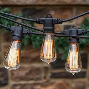 Vintage Patio String Lights Brightech Ambience Pro Vintage Edition With Weathertite
