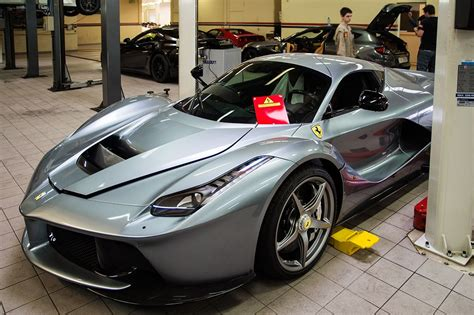 grey ferrari grey laferrari arrives in switzerland gtspirit