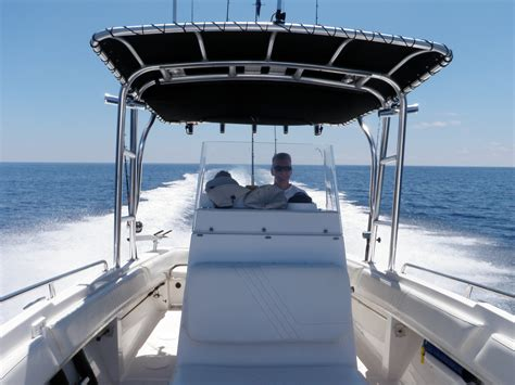 centre console jon boats radar arches on small center console boats the hull