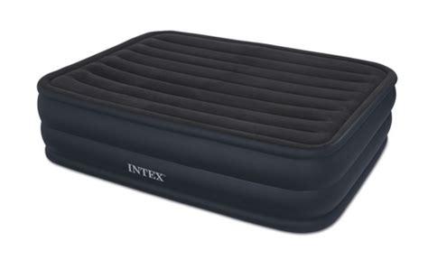 intex queen  rising comfort airbed mattress  built  electric pump