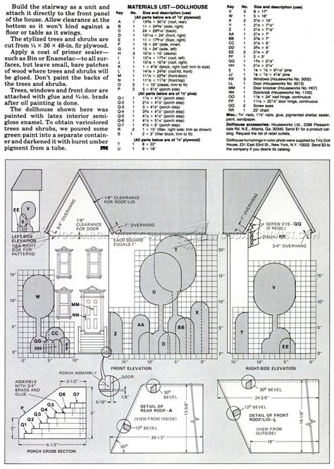 doll house floor plans wooden doll house plans woodarchivist