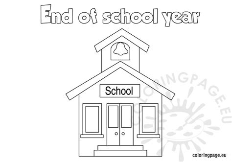 coloring pages end of school year end of the school year coloring page