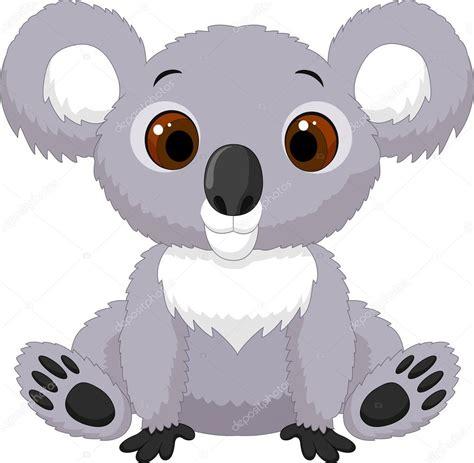 imagenes kawaii de koalas koala de dibujos animados lindo sentado vector de stock