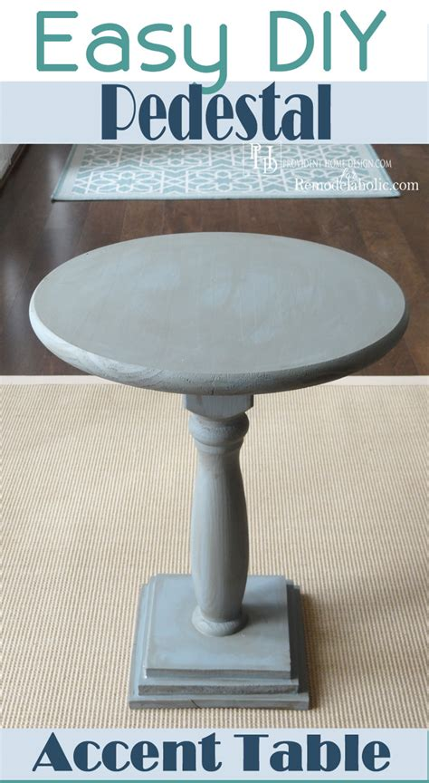 Diy Pedestal Table diy pedestal accent table remodelaholic bloglovin