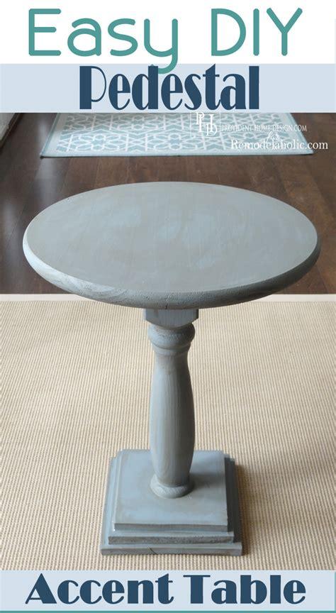 diy pedestal table remodelaholic diy pedestal accent table