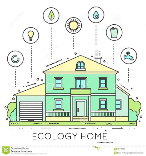 eco friendly houses information eco friendly home infographic stock vector image 63441730