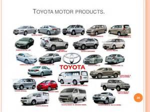Toyota Products Presentation On Toyota Motors L T D