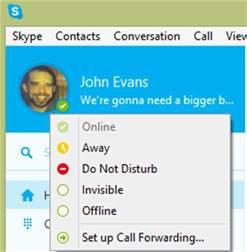 qu est ce qu un statut et comment le modifier dans skype