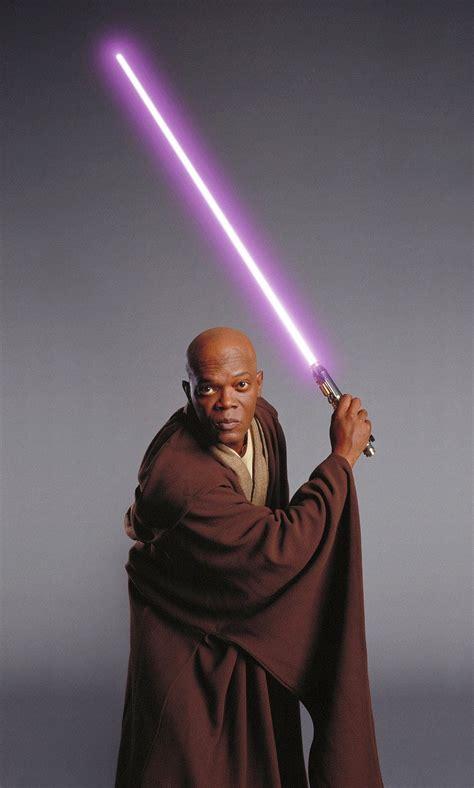 Wars Lightsaber L by Mace Windu Jedi Costume With Purple Lightsaber