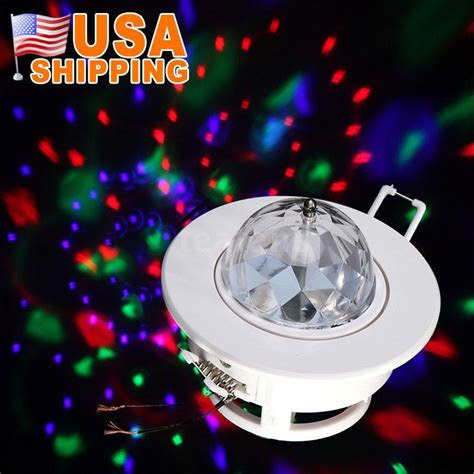3w color led voice activated rotating rgb ceiling