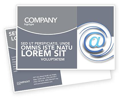 Email Postcard Template Modern Communication Via Email Postcard Template In