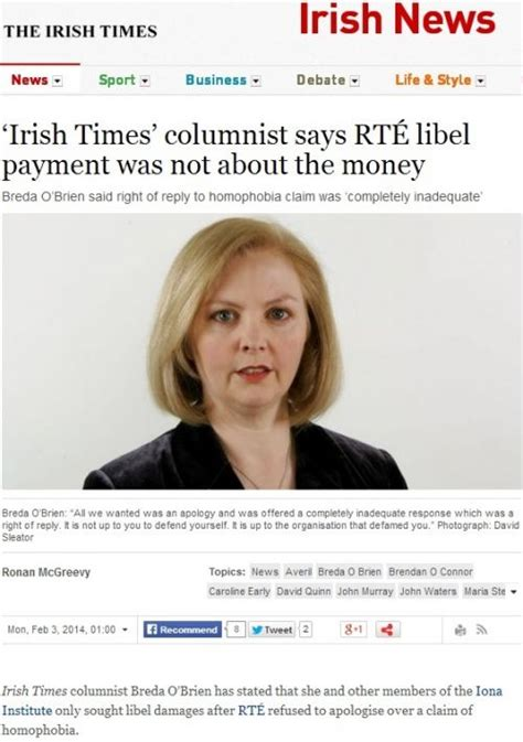 irish sunday times business section irish journalists get cash payouts over homophobic