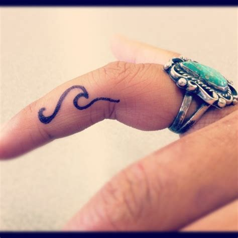 small surf tattoos fingertattoo on