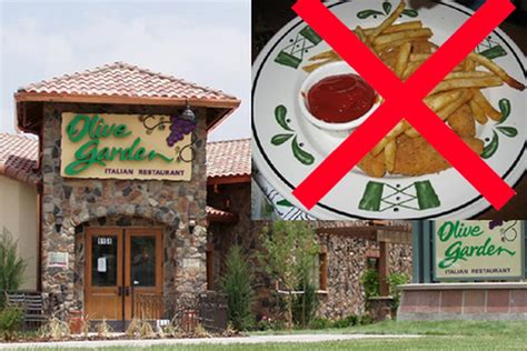 olive garden takes fries and milkshakes the menu eater