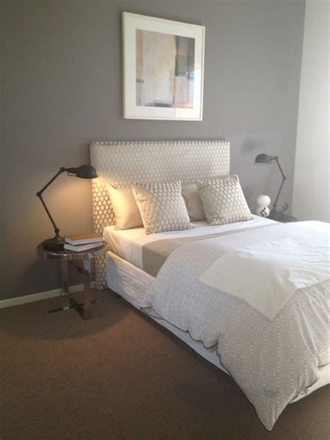 feature wall bedroom craigieburn guest bedroom with grey feature wall