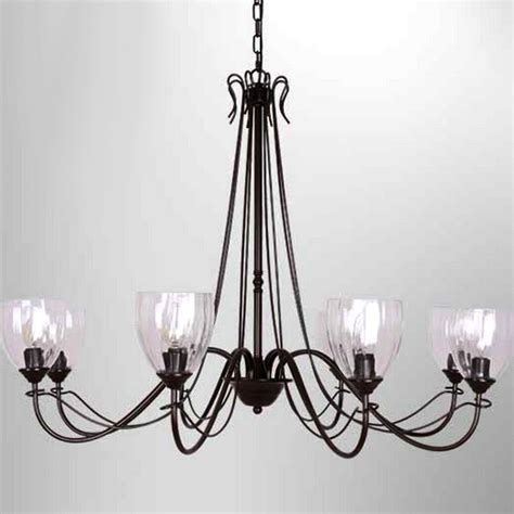 Clear Glass Chandelier Shades Northic Country 6 Clear Glass Shades Iron Chandelier 10344 Browse Project Lighting And Modern