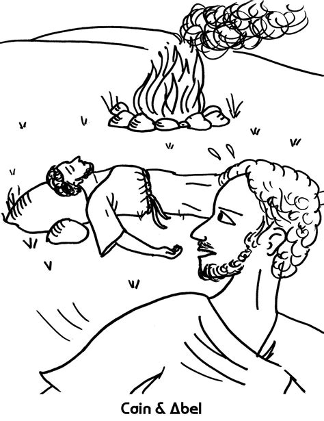 cain and abel coloring sheet wesleyan kids