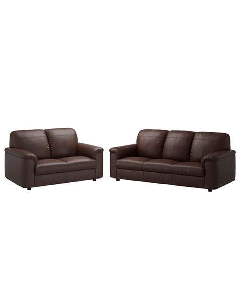 leatherette sofa leatherette 5 seater sofa 3 2 in brown buy leatherette