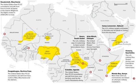 us air force bases in africa map the african network the washington post