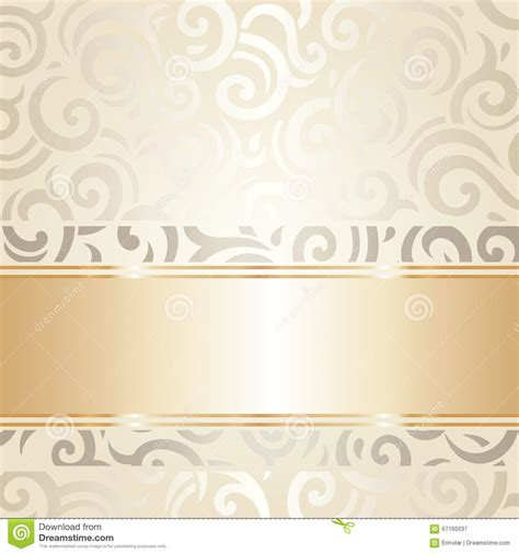 Wedding Background And White by Wedding Vintage Wallpaper Design White Gold Vector Stock