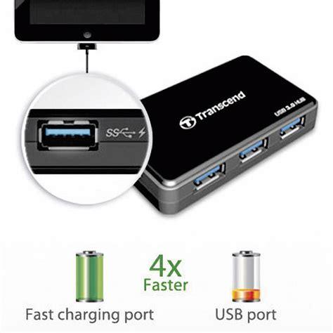 4 Port Usb 3 0 Hub Black 4 ports usb 3 0 hub transcend ts hub3k black from conrad