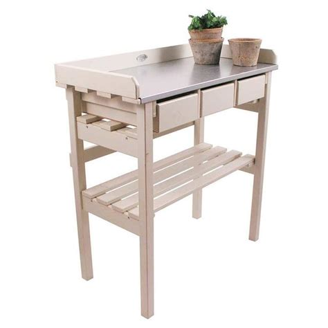 small potting bench buy small cream potting table the worm that turned