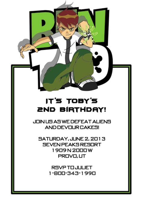 Ben 10 Birthday Invitation Cards Templates by Disney Frozen Invitation Templates Invitations Ideas