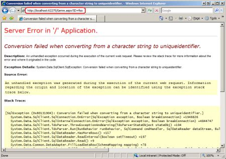 displaying a custom error page (c#)   the asp.net site