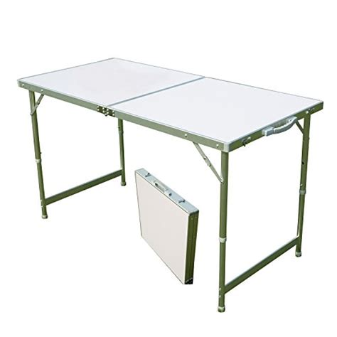 Folding Table With Handle Acelife Aluminum Folding Cing Table With Carrying Handle Portable And Height Adjustable