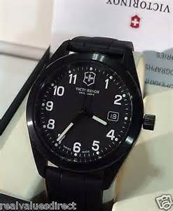 New Victorinox Swiss Army Black Dial Black Strap Men's