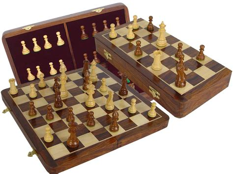 wooden chess set chess set victorian staunton 3 5 quot folding chess board