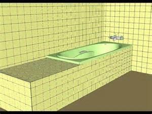 installer et habiller une baignoire