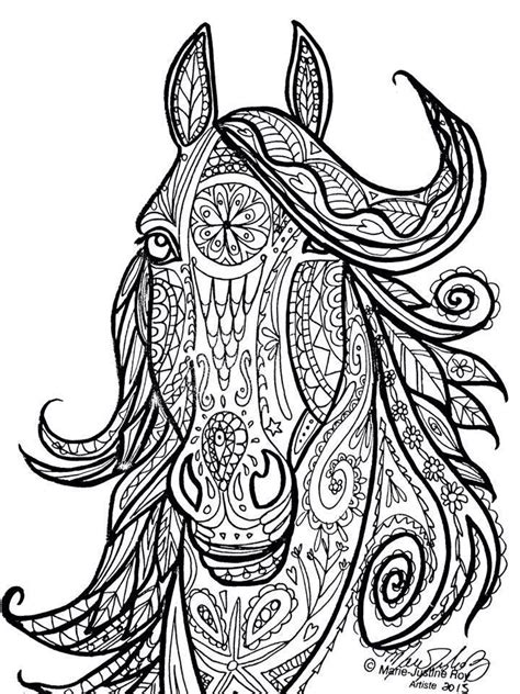 coloring pages for adults horses horse tribal head art by marie justine roy color this