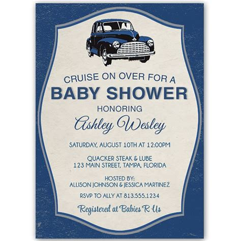 Themed Baby Shower Invitations by Best 25 Car Baby Showers Ideas On Race Car