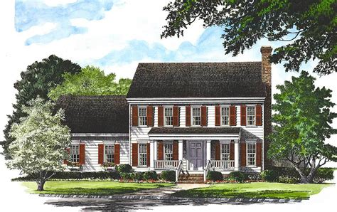 Traditional Colonial House Plans by Traditional Colonial Home 32529wp 2nd Floor Master