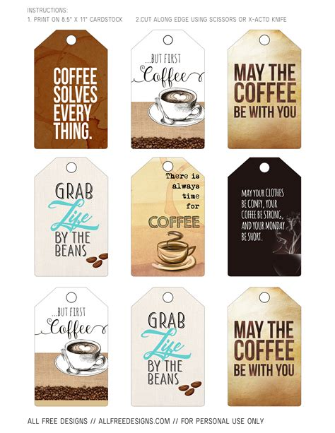 printable alphabet letter tags coffee greeting cards and printable tags to download free