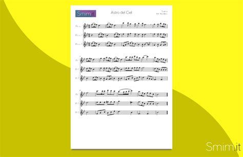amapola testo italiano astro ciel spartito per trio di flauti