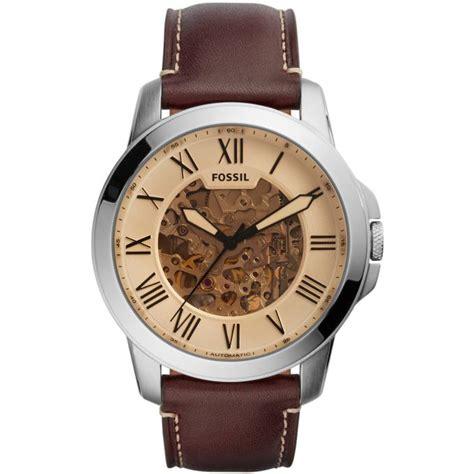 montre fossil automatic me3122 montre automatique marron homme sur bijourama montre homme