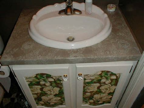 Decoupage Countertops - collage sheet how to decoupage counter top with lace