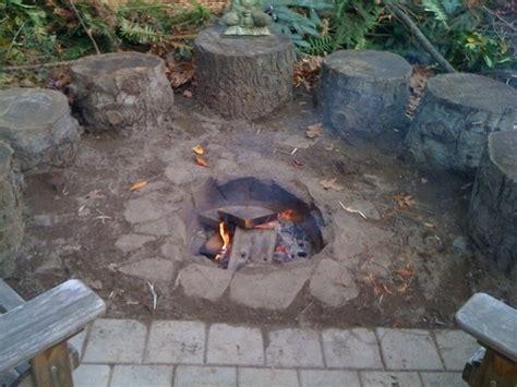 Slate Firepit Pit From Slate Gardening