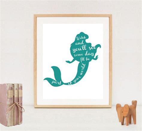 free printable mermaid wall art little mermaid poster minimalist ariel silhouette by